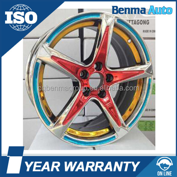 New Design Refitted car alloy wheels, Colorful alloy wheels rims very cool