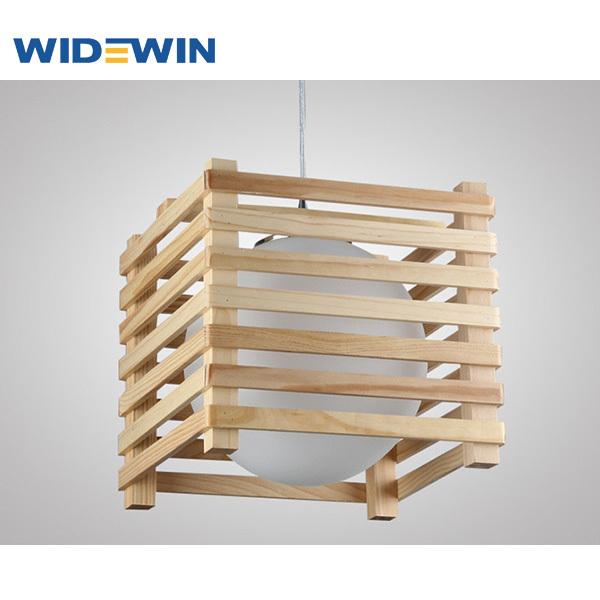 Creative dise o cuadrado de techo de la l mpara l mpara de - Lampara de techo de madera ...