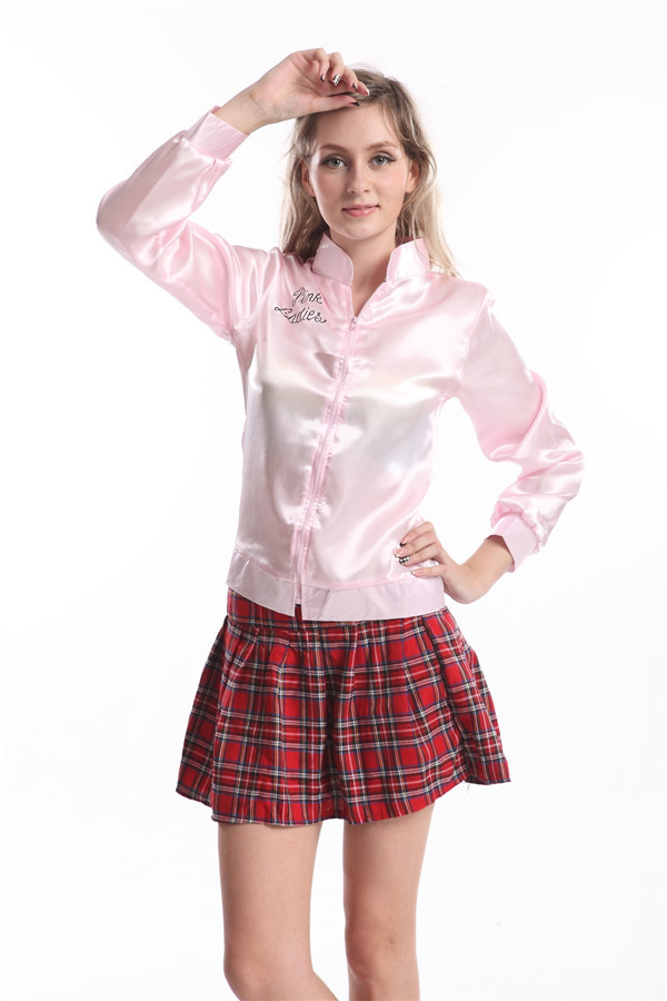 61959c60428 The Women s Plus Size Pink Satin Lady Jacket will complete a 50s outfit.  It s a