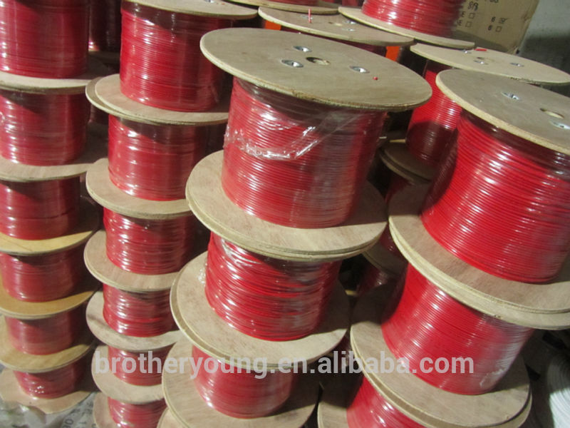 Tinned Copper 100Meters/Roll Fire Control Cable For GSM Alarm System