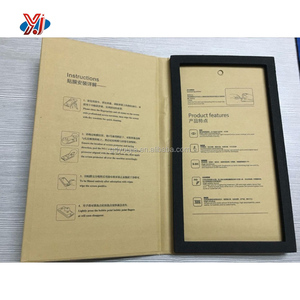 Kraft paper packaging box for tempered glass screen protector with eva foam