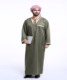 Dubai 2017 long sleeve mens Kaftan Jilbab army green arbric men jubba thobe