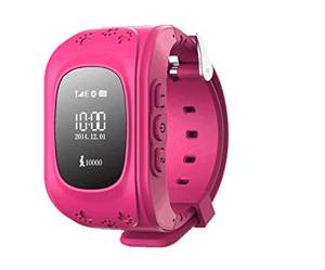 Generic Mini GPS Tracker Watch For Child SOS Emergency Anti Lost GSM Smart Mobile Phone App Bracelet Wristband Alarm and Tracking With 2 Way Communication Locating Fast(Pink)