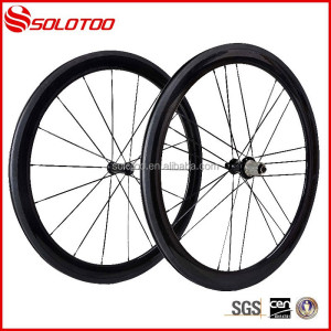 glossy finish road bike carbon wheel 50mm clincher roue carbone