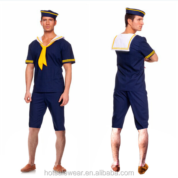 Blue Mens Sailor Costume Easy Man Cosplay Costumes PSFS-15017