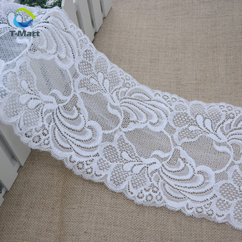 Decorative Stylish French Rose Flower Stretch Lace Trim Sewing