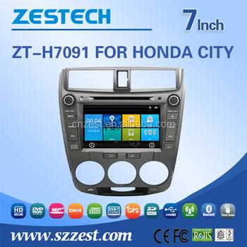 ZESTECH Car Accessories For Honda CITY Car Dvd Navigation System