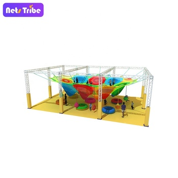 Nets Tribe Rainbow crochet rope nets playground for kids soft play Honeycomb
