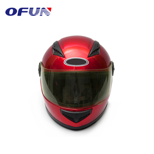 OFUN Red Attractive Protective Head Motor Cycle Racing Helmet For Motorcycles