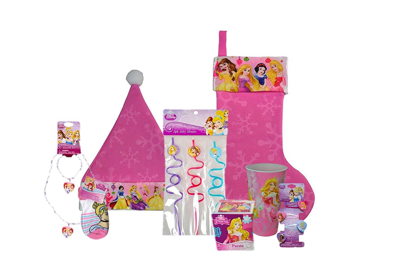 Disney Complete Stocking Bundle: Stocking, Cap, Stuffers & Toys (Disney Princess)