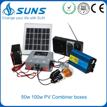 Portable 12v 300w - 500w 0.5kw Solar Power Home Inverter Power System , Heavy Duty Photovoltaic Solar Panel System