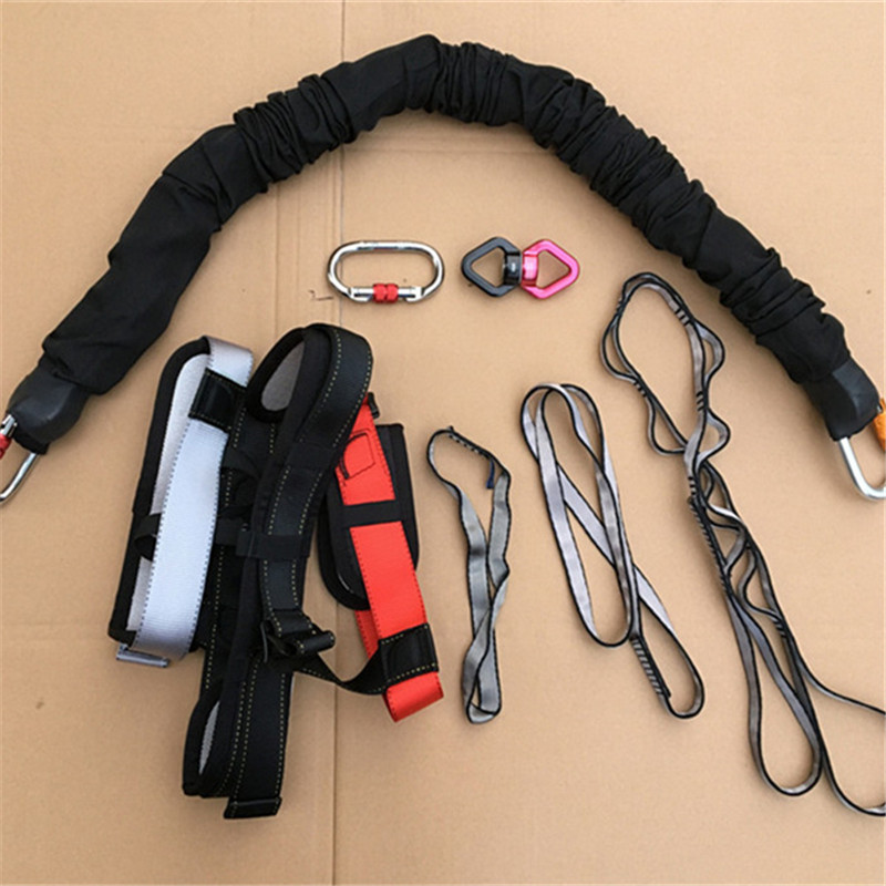 PRIOR FITNESS Professional Heavy Bungee Cord Resistance Belt For Home Gym Adjustable Bungee Cord