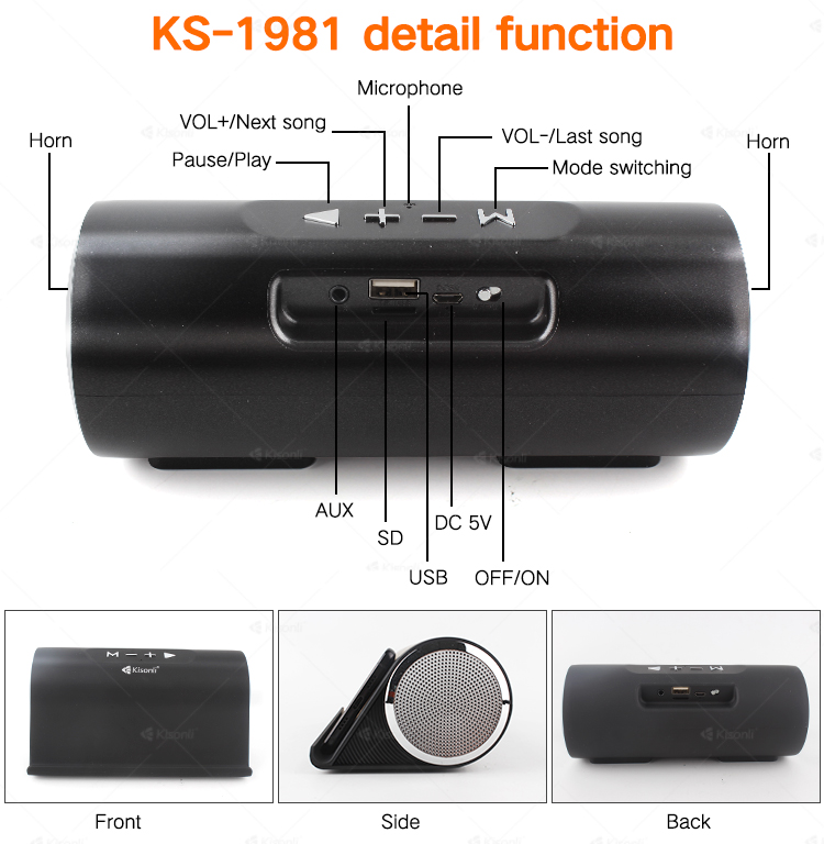 Draagbare 3 inch luid subwoofer versterker draadloze mini speaker