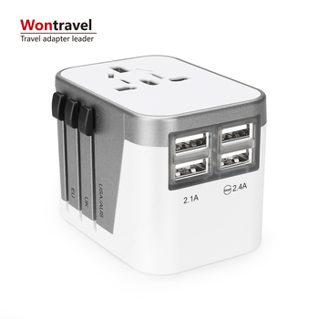 Wontravel travel universal adaptor multi plugs adapter all in one UK US AU EU Plug Socket