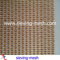 Flat Woven Decorative Wire Mesh For Cabinets