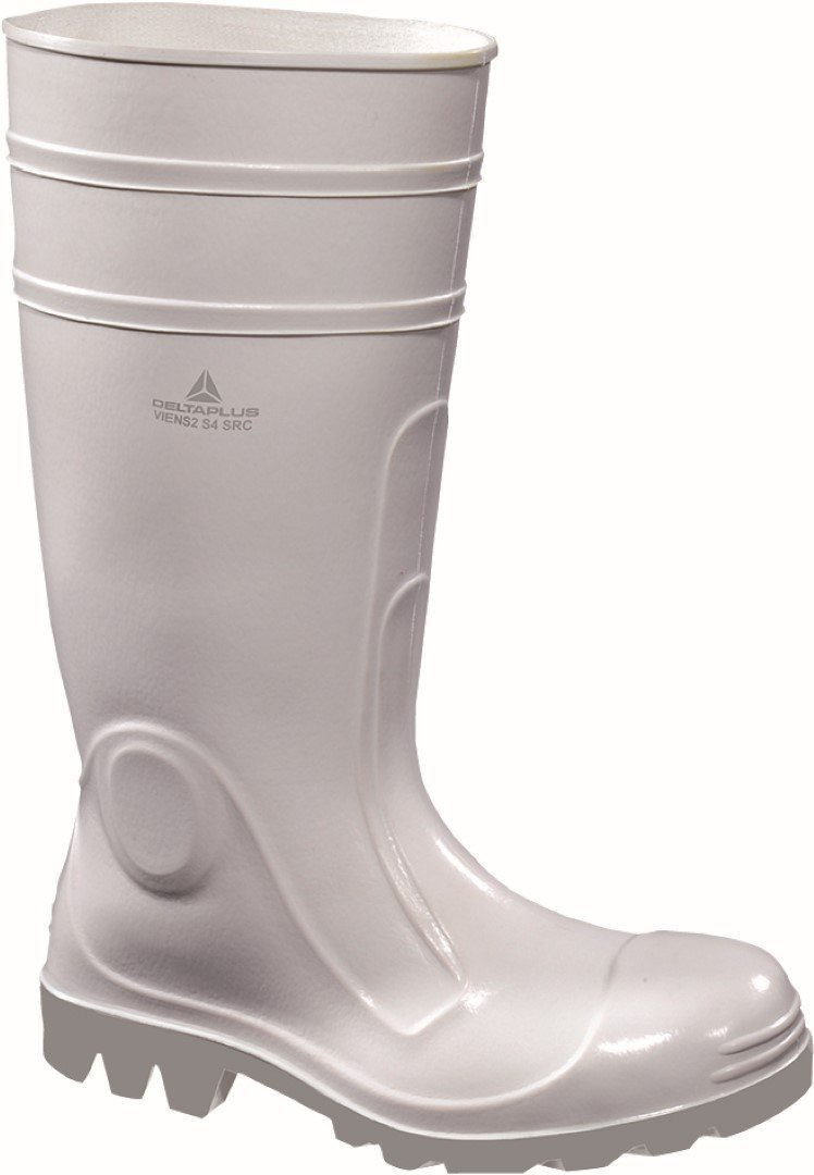 Panoply Mens Viens2 White Pvc Safety Wellington Boots Welly Wellies For Food Industry With Steel Toe Caps US Size 4