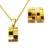 high quality wholesale costume design women 18k gold plated stainless steel fashion jewelry set