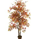 factory artificial Konda plants with pot indoor Cherry maple red tree for home decoration