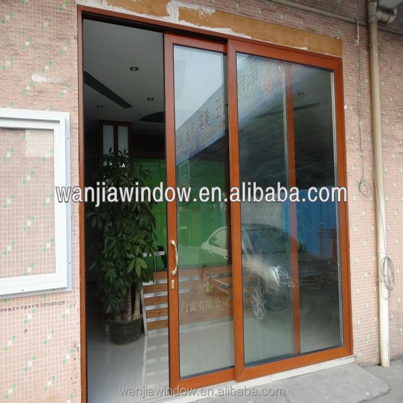 Aluminium sliding doors drawing main front glass door for Sliding main door