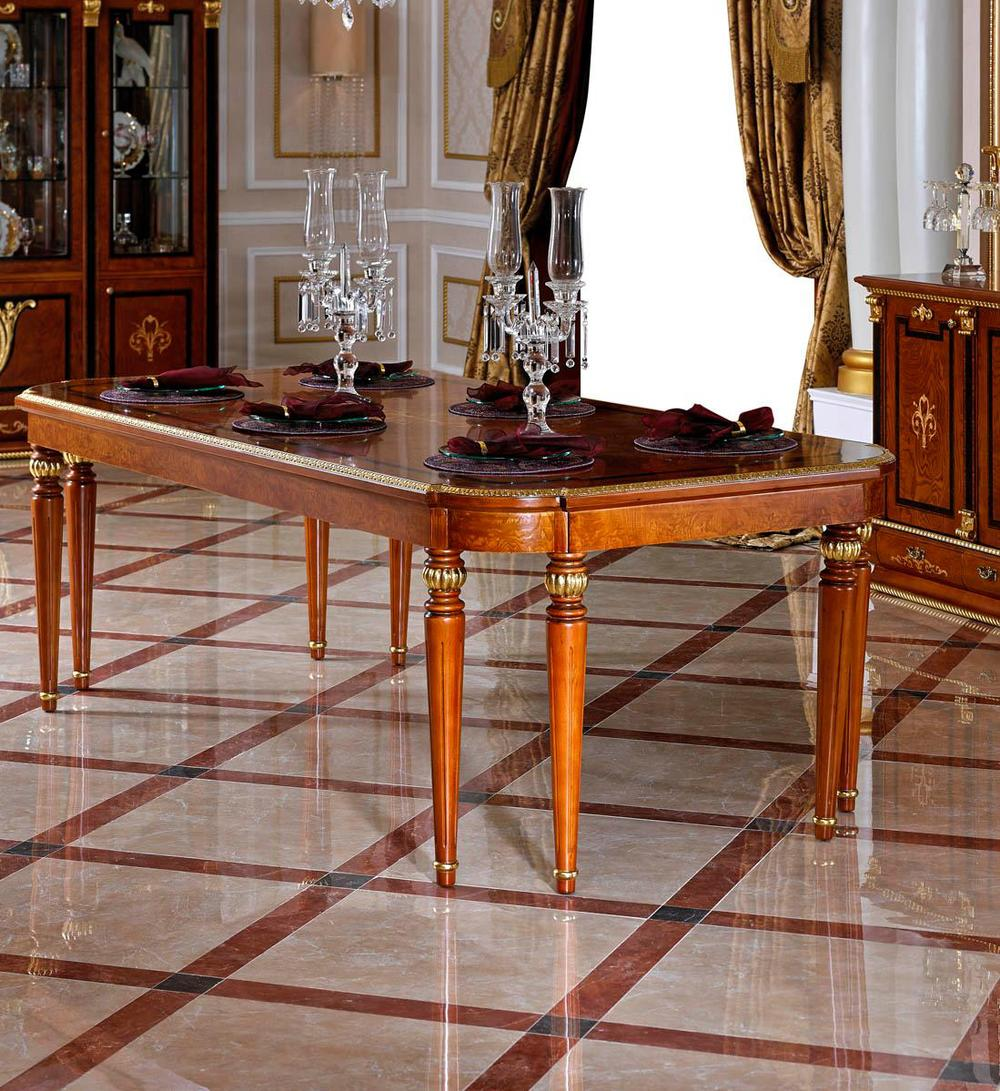 0038 European Antique Design Wooden Dining Table Set With Chairs ...