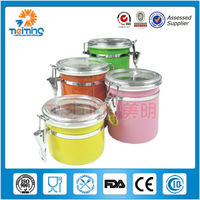Colorful Stainless Steel Airtight Canister Storage Jar