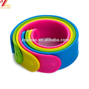 Wholesale cheap blank bangles type rubber snap bracelets / kids slap wrist band