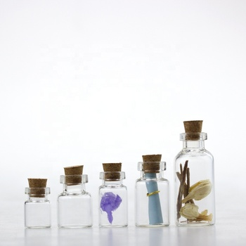 Factory  direct sale glass vial with cork
