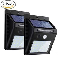 20 Led Waterproof Security Wall Lights Wireless Outdoor Powerful Detector Led Lights For Garage Door Path Walkway (2 Packs)