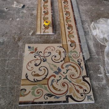 Decorative Marble Stone Border Flooring Designs