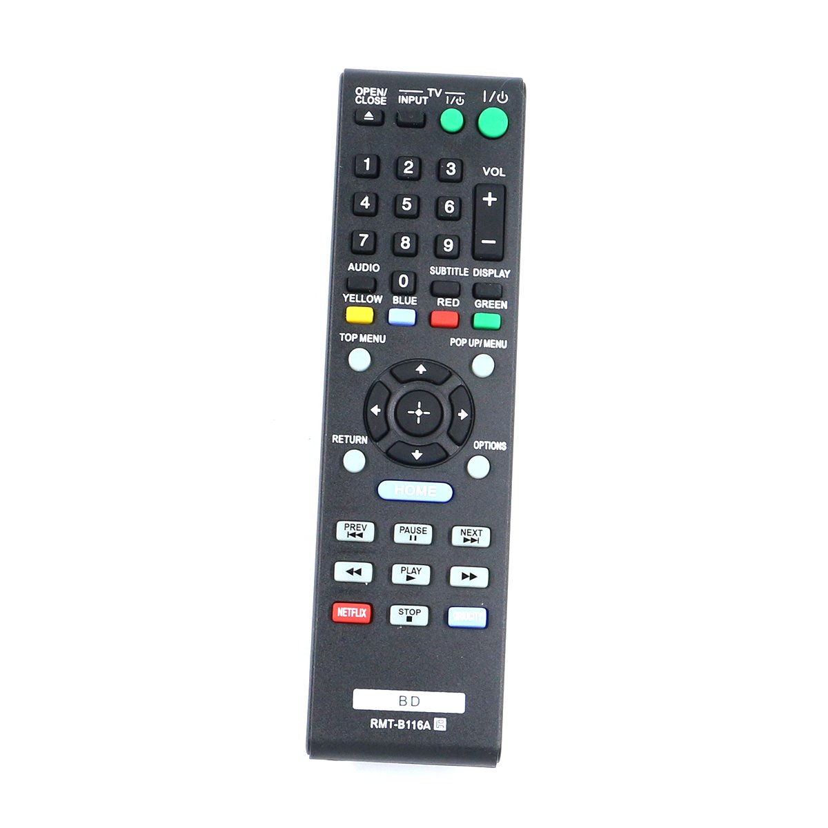 ZdalaMit RMT-B116A RMTB116A New Replacement Blu-Ray Disc Player Remote Control fit for Sony BD DVD BDP-BX58 BDP-BX38 BDP-S280