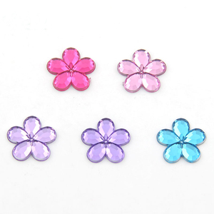 //flowers design crystal gemstone resin stone // sew-on rhinestone for jewelry making //