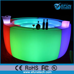 Specific use and commercial furniture general use LED table outdoor led custom commercial bars