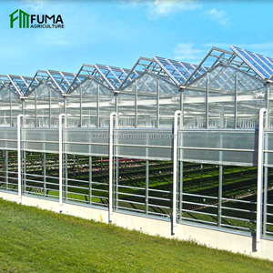 Agriculture low cost smart glass greenhouse with hydroponic growing system