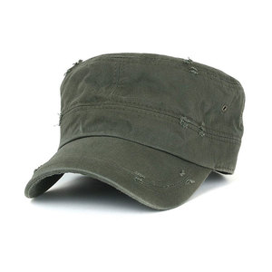 fdb211e2baa hot sale plain army cap flat top cap