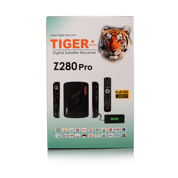 Satellite Receiver With Sim Card Tiger Z280pro Arabic IPTV Box One Year IPTV For Free