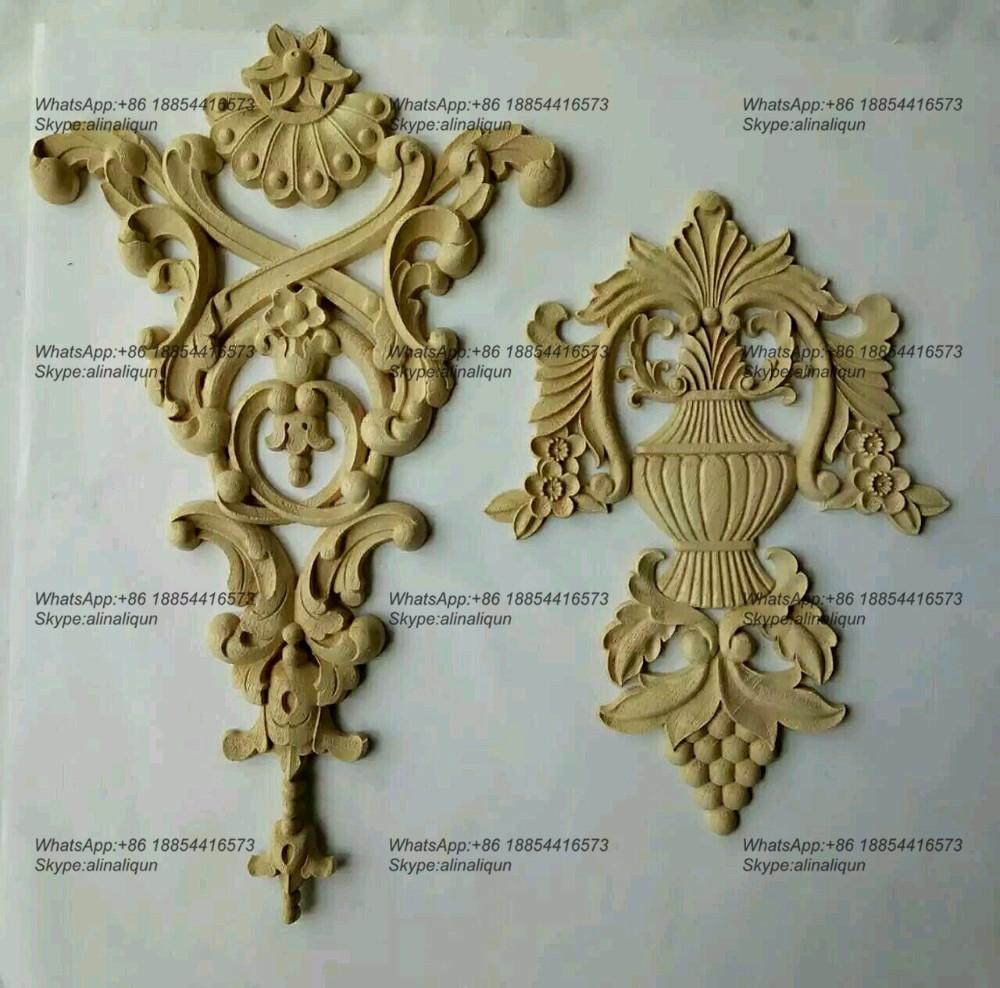 Decorative Wood Ornamental Furniture Mouldings Appliques