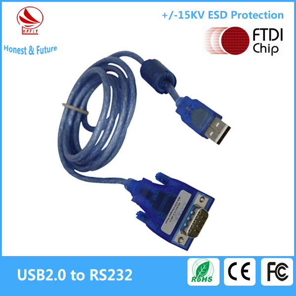 Win2008/XP/Vista/7/CE/Mac/Linux Industrial Grade FTDI Chip USB2.0 to 1 COM Port RS232 Adapter
