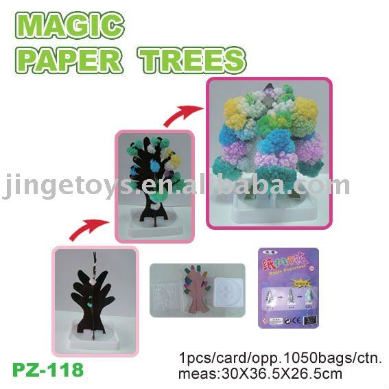 magic paper tree to flower