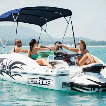 Sanj sjfz16 combined boat with jet ski boat for fishing for Fishing jet ski for sale