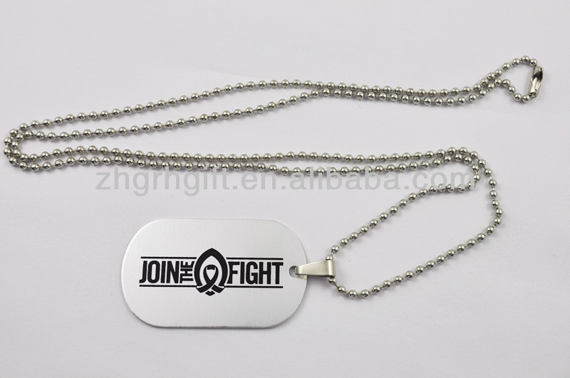 Cheap and high quality wholesale military metal dog tags with ballchain