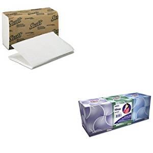 KITKIM01700KIM21286 - Value Kit - KIMBERLY CLARK KLEENEX BOUTIQUE Anti-Viral Tissue (KIM21286) and KIMBERLY CLARK SCOTT 1 Fold Paper Towels (KIM01700)
