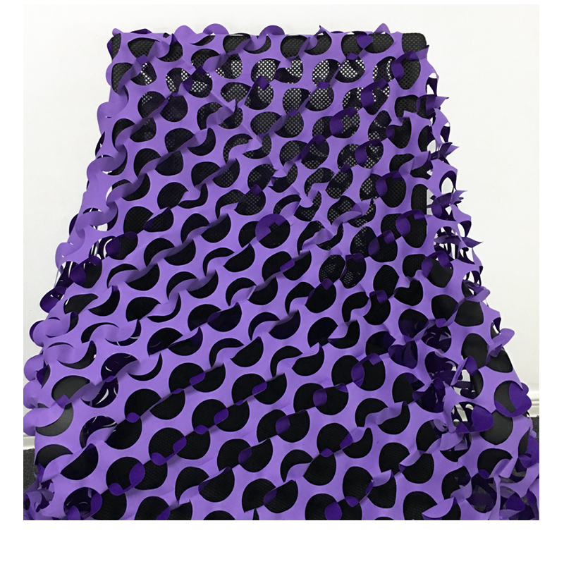 Lightweight Camouflage Net Fire Retardant Purple Camo Netting