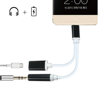 Hot Sale 2 In 1 Charging Cable Light To 35mm Power Audio Charge Headphone Jack