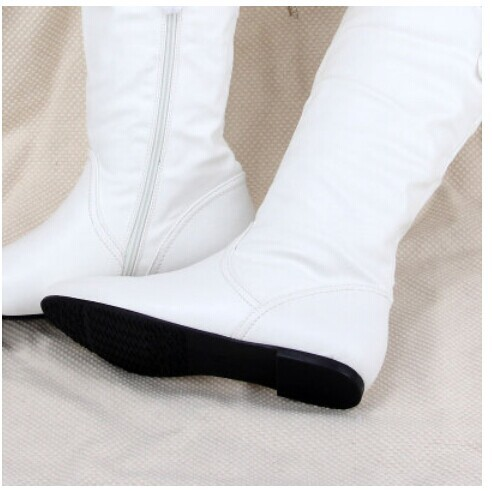 Boots White Teens Flat Boots 36