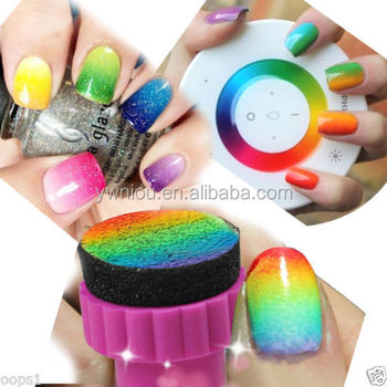 Nail Art Sponge Stamp Stamping Polish Template Transfer Diy Design