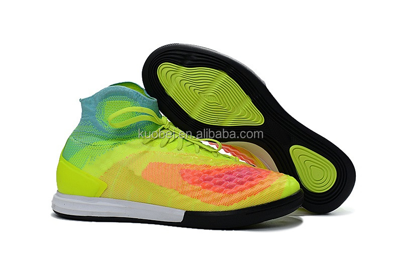 Men Sports High ankle indoor rainbow Football boots shoe CR Soccer Shoes 7 color