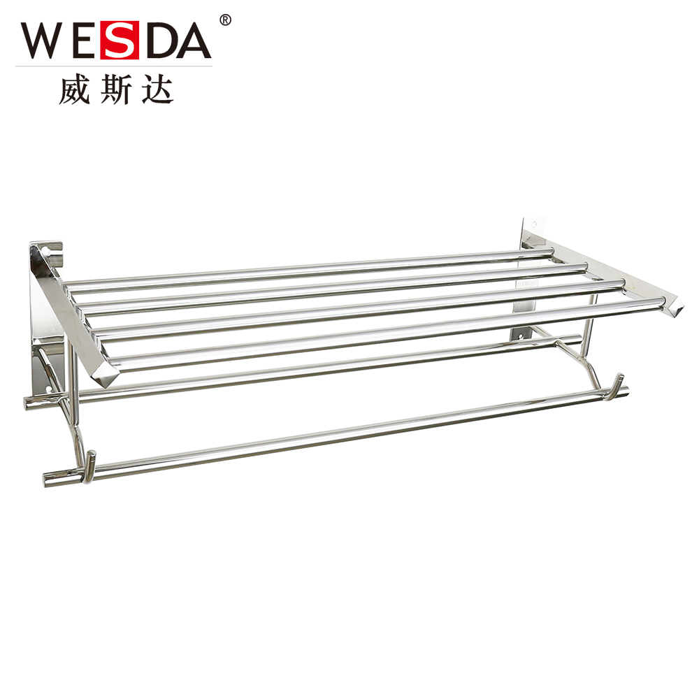Wesda Wall Mounted Stainless Steel Bathroom Shelf Towel Rack A095 ...