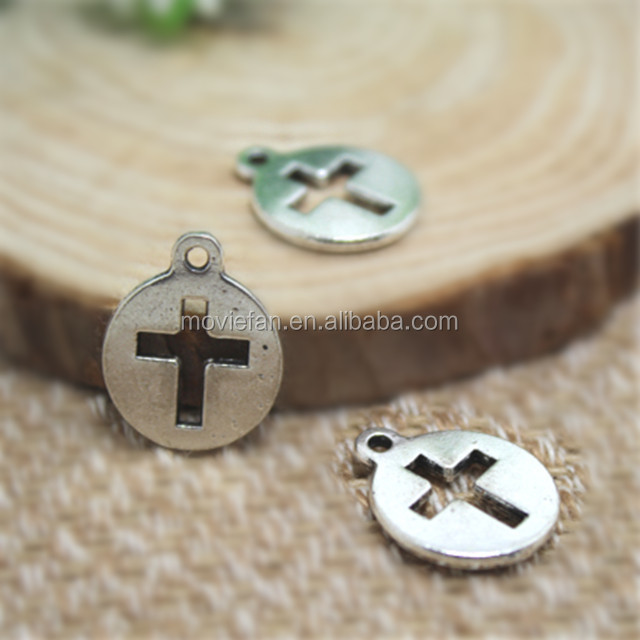 China antique cross jewelry wholesale alibaba antique tibetan silver cross charms pendants diy supplies jewelry making 17x15mm aloadofball Image collections