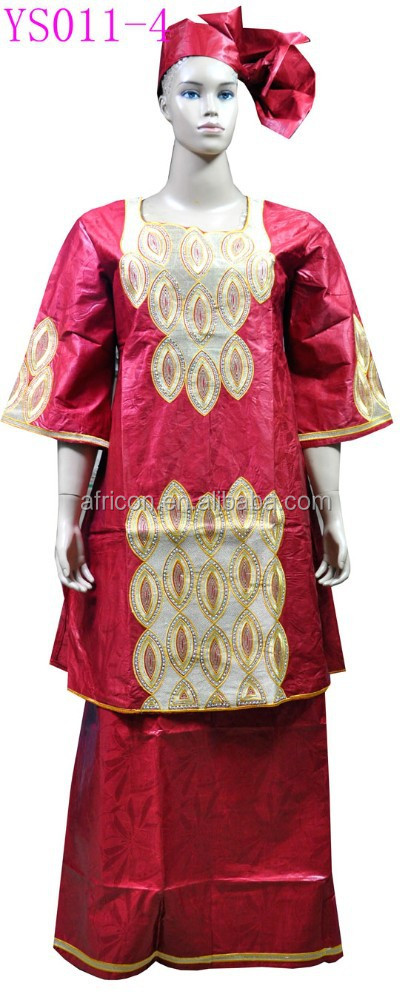 YS011-4 New fashion Bazin African embroidery women's Bazin Cloth African Bazin,riche, Lady dress