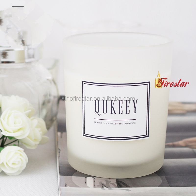 Home Decorative Scented Soy Candle in glass jar with gift box